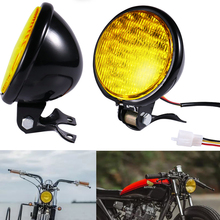 5 LED Xe Máy Cao Cấp Chùm Thấp Headlight Đèn Cho Harley Kawasaki Suzuki Yamaha Tàu Tuần Dương Xay Thịt Cafe Racer lưu Diễn
