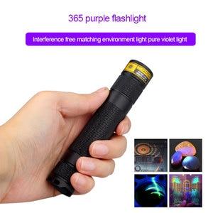 Image 4 - Uv lanterna led 365nm ultra violetas ultravioleta ip65 à prova dip65 água invisível tocha para manchas pet caça marcador verificador