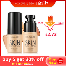 FOCALLURE Base Face Liquid Foundation Cream Full Coverage Concealer Oil control Easy to Wear Soft Face Makeup Foundation