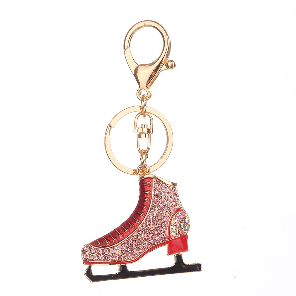 Roller Skates Shape Keychain Novelty Lady Bag Pendant Accessories Pendant Key Ring Key Chain Perfect Decoration