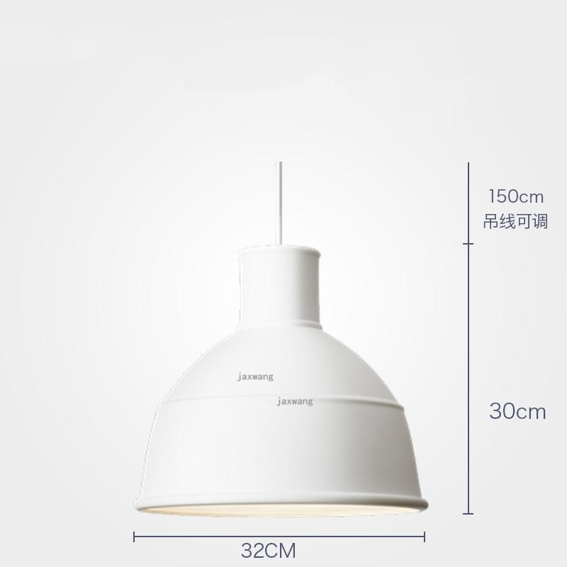 Новинка, подвесной светильник в скандинавском стиле, для столовой, макарон, s, смоляный светильник, светильники, кухонные подвесные лампы, подвесной светильник для гостиной, светодиодный, внутреннее освещение - Цвет корпуса: White 32CM