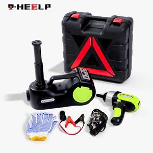 E-HEELP 3 в 1 Автомобильный Электрический гидравлический домкрат с надувным насосом светодиодный ударный ключ Многофункциональный цифровой до...