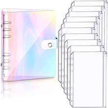 A6 Laser Notebook Planner Organizer Binder Books Filofax Journal Sketchbook Accessories Diary School Office Supplies Notebook