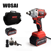 WOSAI Brushless Electric Wrench 20V Impact Wrench Socket Li Battery Hand Drill Installation Power Tools