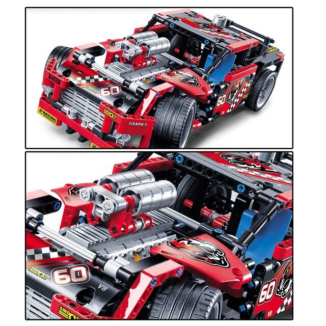 608 stücke Race Truck Auto 2 In 1 Wandelbare Modell Baustein Sets Decool 3360 DIY Spielzeug Kompatibel Lepining Technik