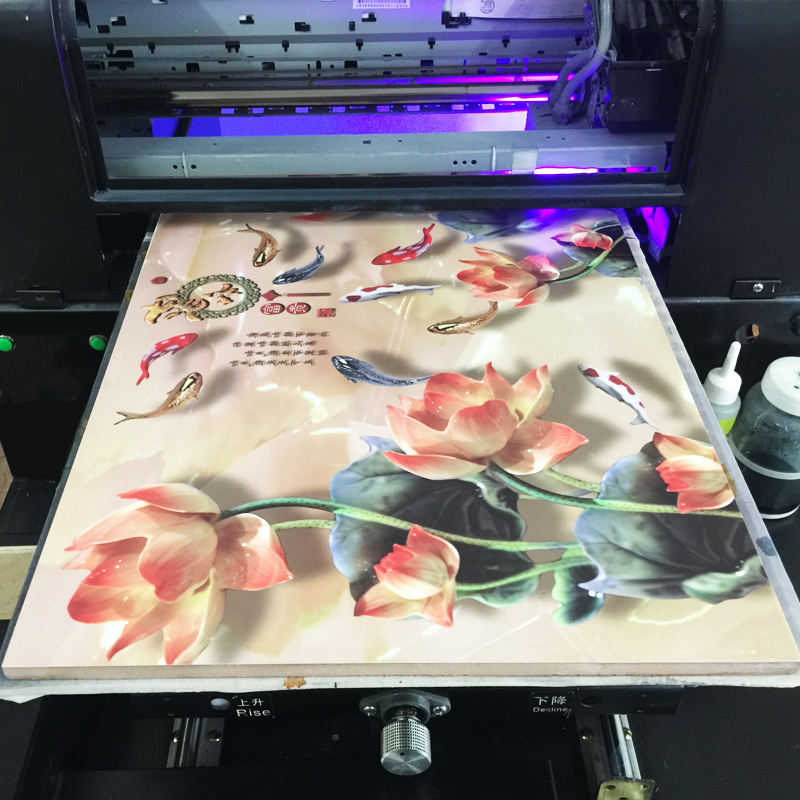ONEVAN.Epson R1390 UV printer, flatbed printing machine, embossed effect printer. UV printer in A3 format