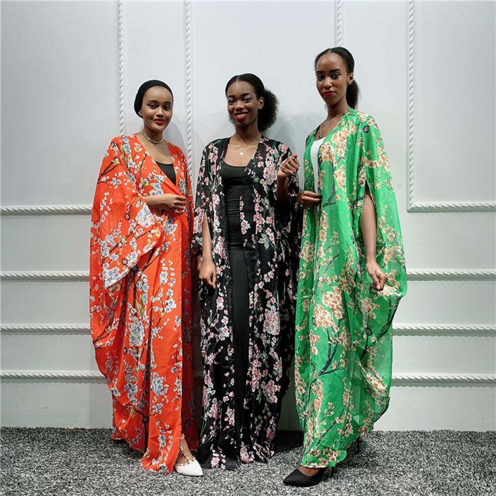 Kaftan Dubai Abaya Kimono Cardigan Hijab Muslim Dress African Dresses For Women Pakistani Caftan Marocain Qatar Islam Clothing(China)