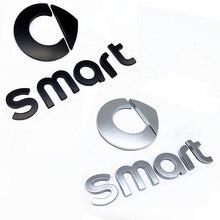 Черный или серебристый ABS 3D Смарт Логотип эмблема наклейка автомобиль укладка маркировки буквы для задний багажник Знак наклейки слов авто ...
