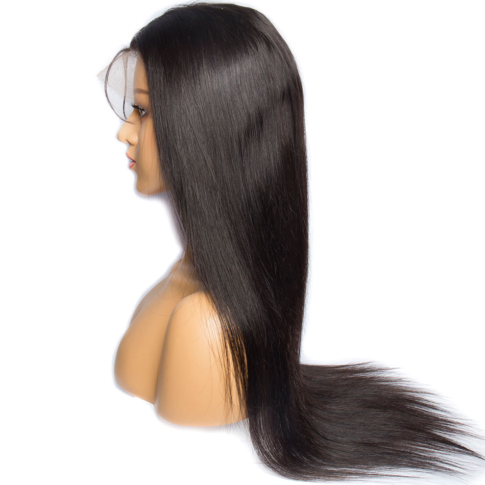 Image 4 - ALIBELE 360 Lace Frontal Wig Pre Plucked With Baby Hair 150 Density Brazilian Remy Straight Glueless Lace Front Human Hair Wig-in Human Hair Lace Wigs from Hair Extensions & Wigs