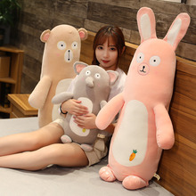 Giant Plush Bear Rabbit Stuffed Bolster Toy Long Body Stuff Animals Elephant Pillow Sleeping Cushion Christmas gift