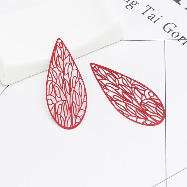 Купить doreenbeads 10 шт модные медные подвески оранжево красный красочные картинки цена