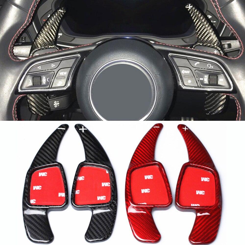 Рычаг переключения рулевого колеса из углеродного волокна для Audi A5 S5 S6 SQ5 RS3 RS6 RS7 2016 2017, рычаг переключения передач