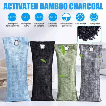 Bambusowe woreczki z węglem śmierdzącym usuwaniem szafy z węglem aktywnym Dezodorant do butów dezodorujący odświeżacz powietrza torby Deodorant tanie i dobre opinie CN (pochodzenie) JJ201065 Węgiel aktywny Torby Szafy i Szafki Pokój Kosz na bieliznę Pet Obszar Bagaż SHOE Activated Carbon Bags