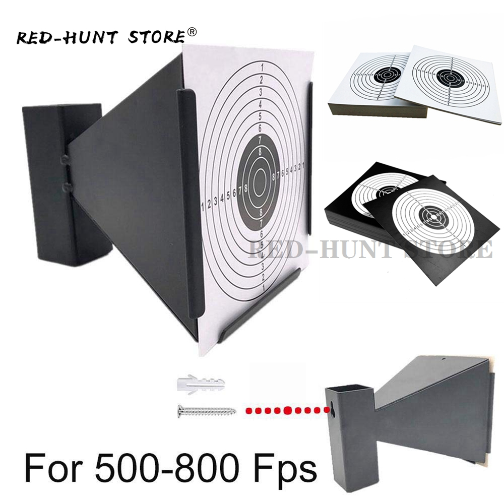 Pellet Gun Target With 100pcs Paper Shooting Targets- Cone Designed Avaliable Wall Mounted For Indoor Outdoor Shooting