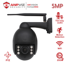 Anpviz 5MP 5X Zoom PTZ Camera Wireless Dome Motion Detection Two-way Audio Outdoor/Home IR 50m Onvif CCTV Security Cam