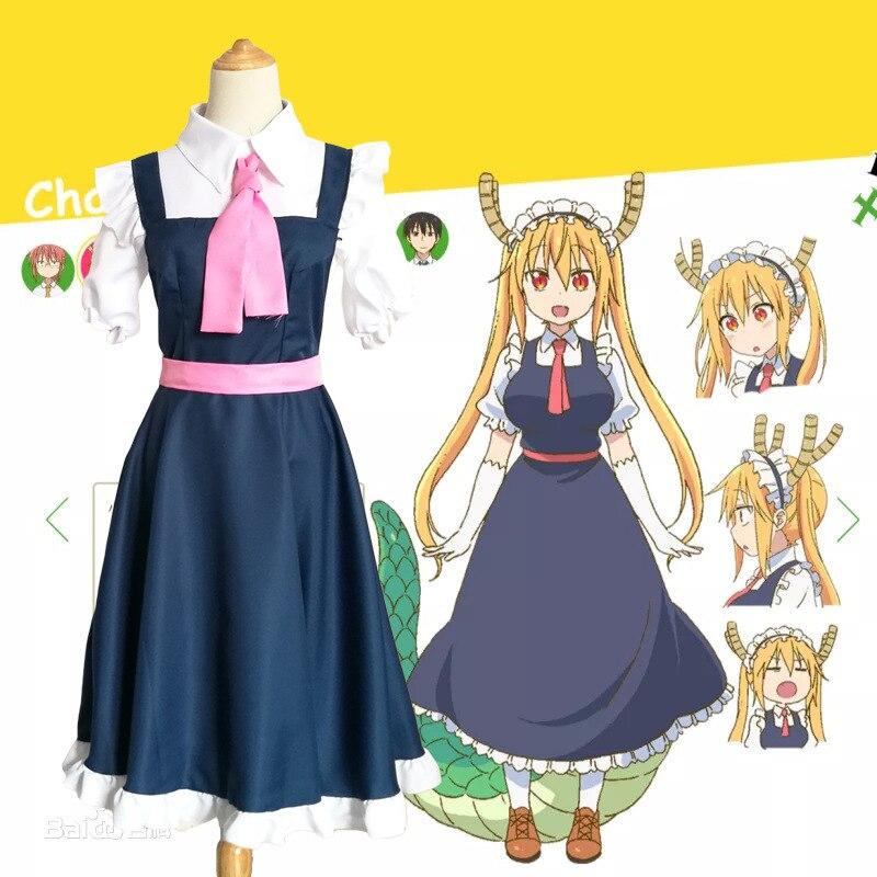 COS Maid Costume Miss Kobayashi's Dragon Maid Girl Shaking Of The Dragon Thor