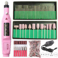 1 Set Power Professional Electric Manicure Machine Pen Pedicure Nail File 6 Bits Drill Nail Drill Machine Strong Nail Tools