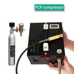 4500psi 300bar 30mpa 12 V/220 V Voor Pcp Lucht Pistool Opblaasbare Pcp Luchtcompressor 12V Miniatuur Pcp compressor Inclusief Transformator