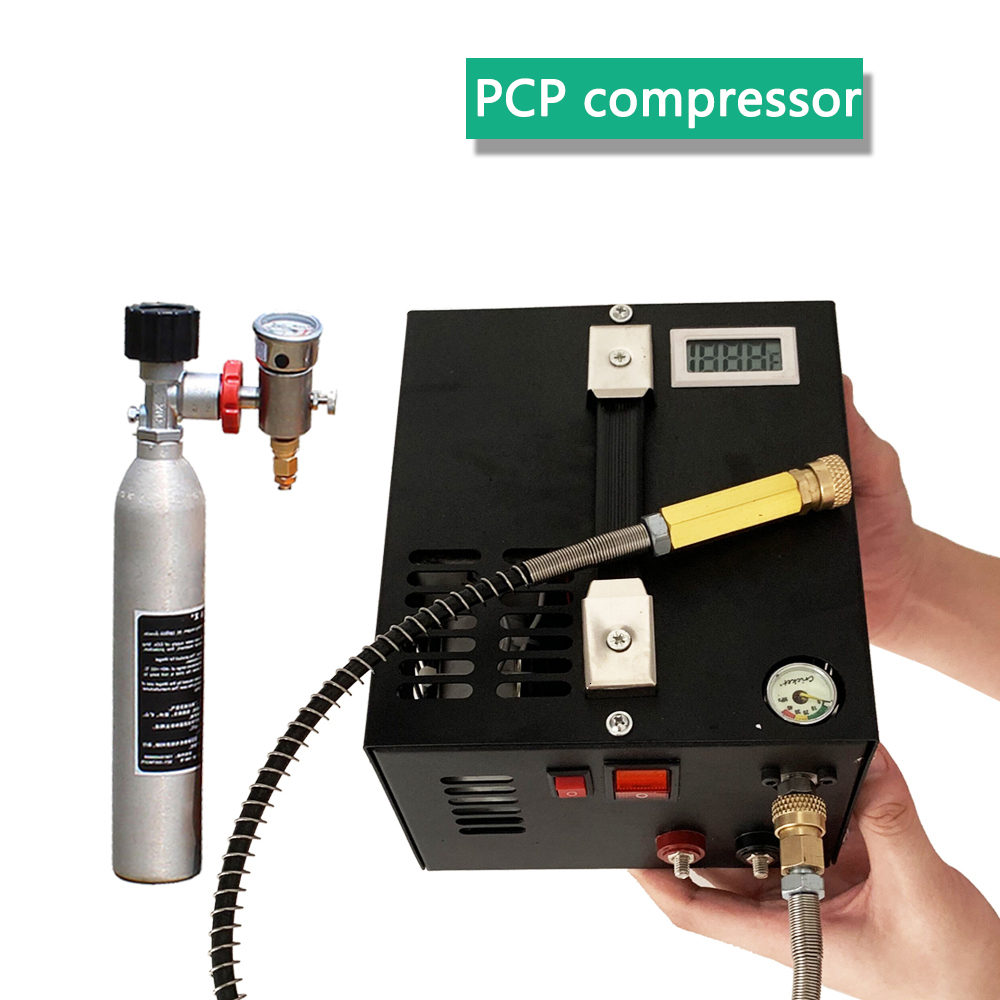 4500psi 300bar 30mpa 12V/220V For PCP Air Gun Inflatable PCP Air Compressor 12V Miniature Pcp Compressor Including Transformer