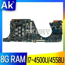 AK UX301LA Laptop motherboard for ASUS UX301LA UX301LAA UX301L UX301 Test original mainboard 8G RAM I7-4500U/4558U(China)