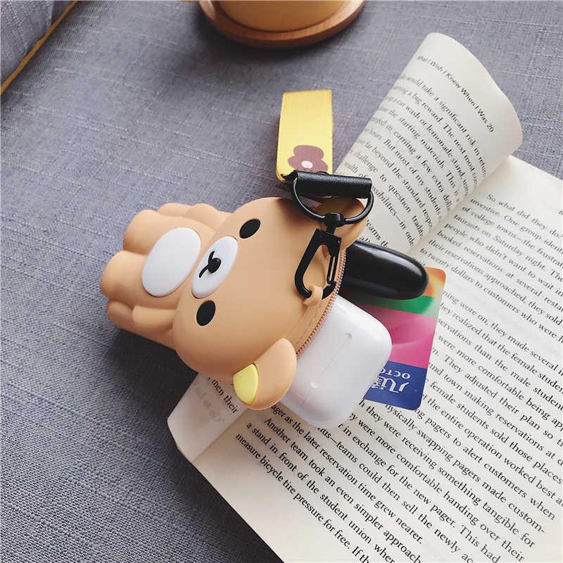 Monedero de oso de dibujos animados para mujer, monedero pequeño, bolso para auriculares lindos, monedero para mujer, monedero para mujer, monedero con cremallera