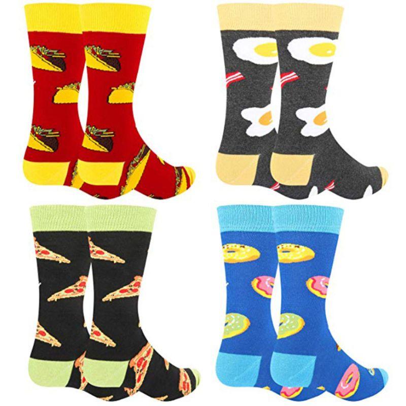 Womens Dress Socks Funny Poached Egg Cool Crew Socks Cotton Crazy Novelty Socks