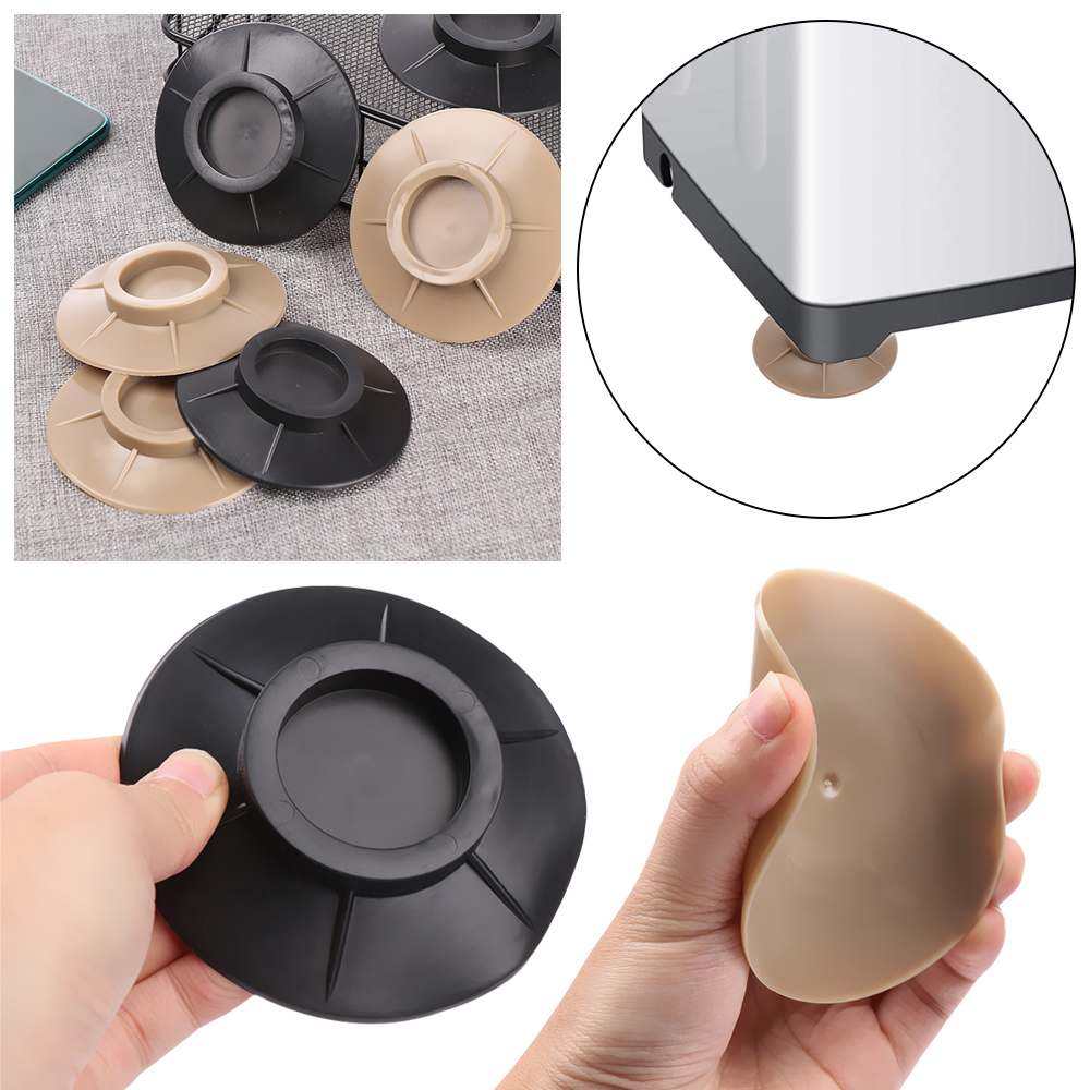 1Pcs Floor Mat Elasticity Black Protectors Furniture Anti Vibration Rubber Feet Pads Washing Machine Non Slip Shock Proof