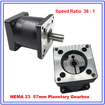 Nema23 36:1 Ratio Planetary Gearbox  57mm Flange Speed Reducer 8mm Input 14mm Output Carbon Steel Gear for Flange Stepper Motor