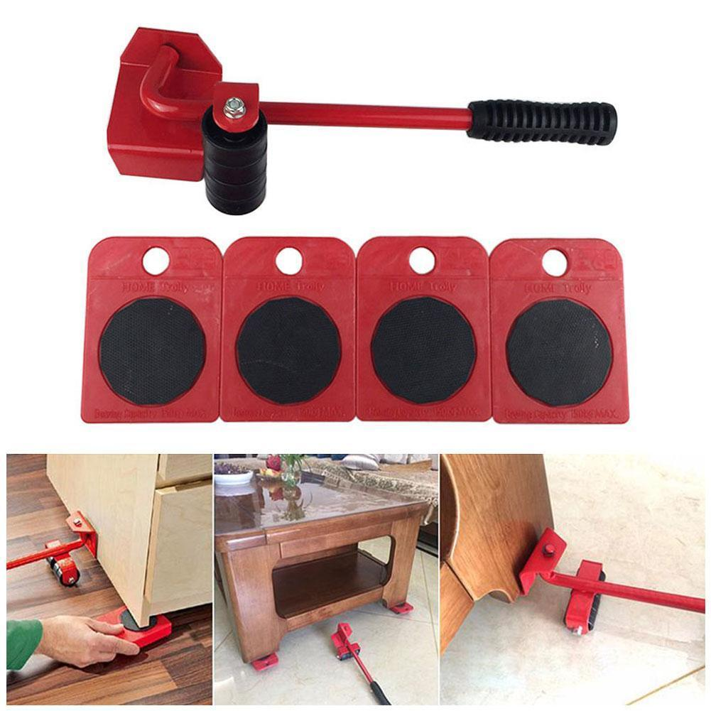 Furniture Transport Roller Set Removal Lifting Moving Tool Handling Accessories Dropship Heavy House Tools Blue Household M T1R6
