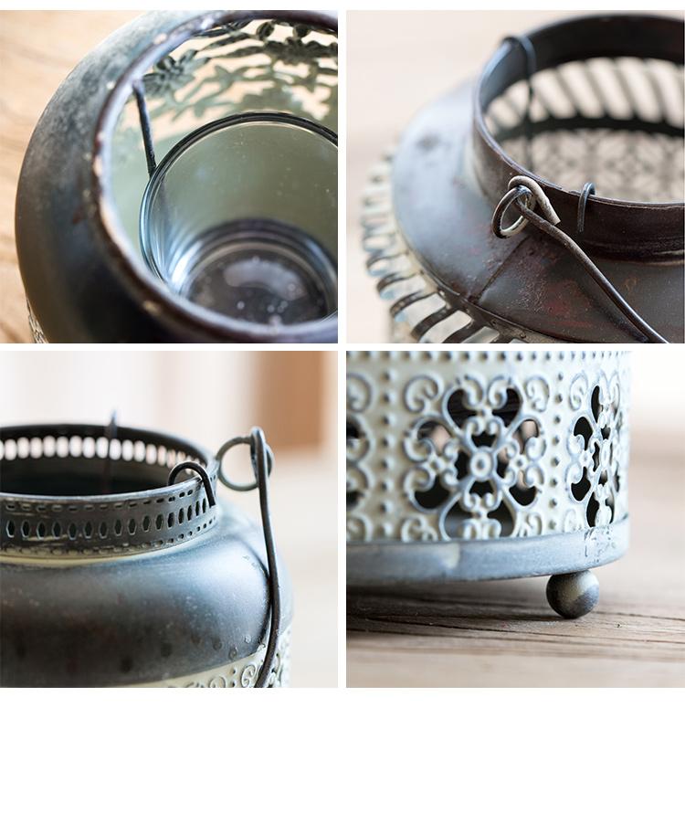 Small Iron Candleholder Lantern