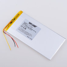 3.7V 6000MAH polymer lithium ion battery  battery for tablet pc prepgio GRACE 3101 4g  7 inch 8 inch 9inch