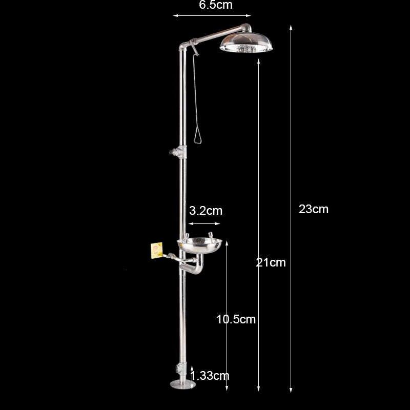 Fmhjfisd Chrom Notfall Dusche Wasserhahn Augen Waschen Reiniger Stand Regen Dusche Vertikale Dusche Wasserhahn Auge Waschen Aliexpress