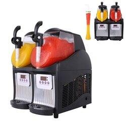 Komercyjne 110V wielofunkcyjne podwójne zbiorniki mała maszyna do slushie/slush maker/maszyna do slushie w USA