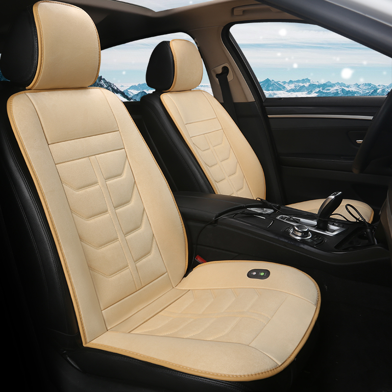 Car heating cushion winter car universal seat heating cushion warm and comfortable car electric short plush heating seat cushion