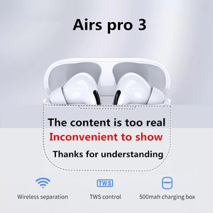 Airs Pro 3 bluetooth headset TWS wireless headset HiFi music earplugs sporty for IOS Android phones