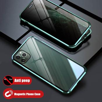 Prywatność szkło magnetyczne etui na telefon anty Peep Screen Protector dla iPhone 11 Pro Max 6 7 8 Plus X XS XR magnes skrzynki pokrywa tanie i dobre opinie EKUPUZ Etui z klapką Privay Phone Case Apple iphone ów Iphone 6 Iphone 6 plus IPHONE 6S Iphone 6 s plus IPhone 7 IPhone 7 Plus