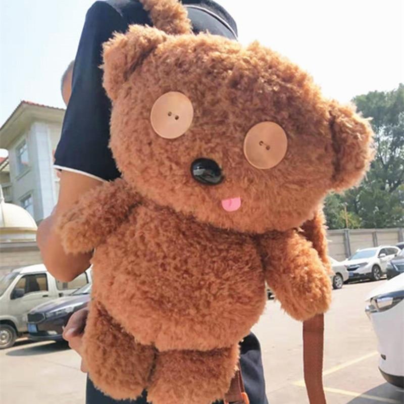 Movie Tim Bear Plush Backpacks Handbag Shoulder Bag Storage Bag Stuffed Toys Plush Toy Doll Doll A Gift For A Friend