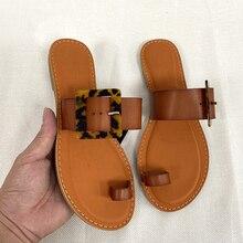 Summer Shoes Flat Sandal Slides Beach-Style Plus-Size Soulier Femme Woman Fashion