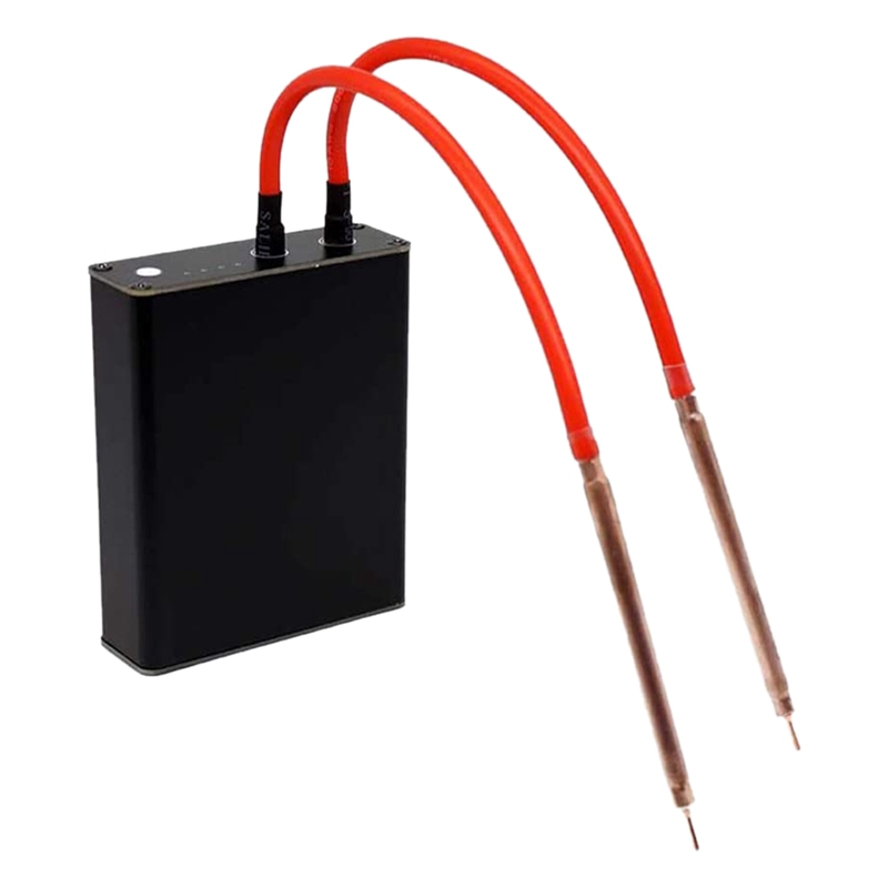 Portable DIY Mini Spot Welding Machine with Quick-Release Pens and 2 Batterywith Outshell