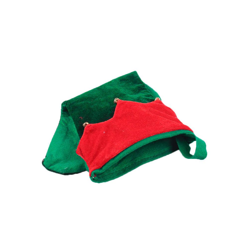 Boże narodzenie Elf kapelusz skarpetki zestaw z dzwonek Clown kapelusz Halloween wisiorek dekoracje