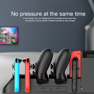 Image 3 - iPega PG 9187 6 in 1 Charging Dock Stand Station Holder Fit for Nintendo Switch Joy Con Pro Game Console Controller Charger