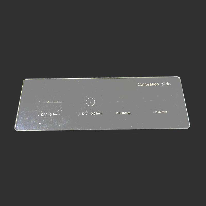 0 01mm Microscope Stage Micrometer Cross Dot 0 01mm Microscope Calibration Slide Ruler in Microscopes from Tools