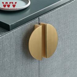WV American Hidden Cabinet Handles Black Gold Aluminum Alloy Kitchen Cupboard Pulls Drawer Knob Door Furniture Handle Hardware