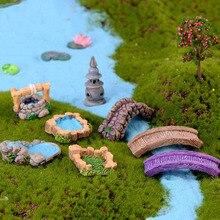 Мини Маяк колодезный мост статуэтки миниатюрный ремесло Сказочный Садовый Гном Террариум с мхом подарок DIY орнамент садовый декор