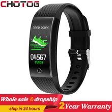 CHOTOG Smart Bracelet Band Body Thermometer Ip68 Waterproof Heart Rate Fitness Tracker Bracelet Watch Sport Smartband Men Women
