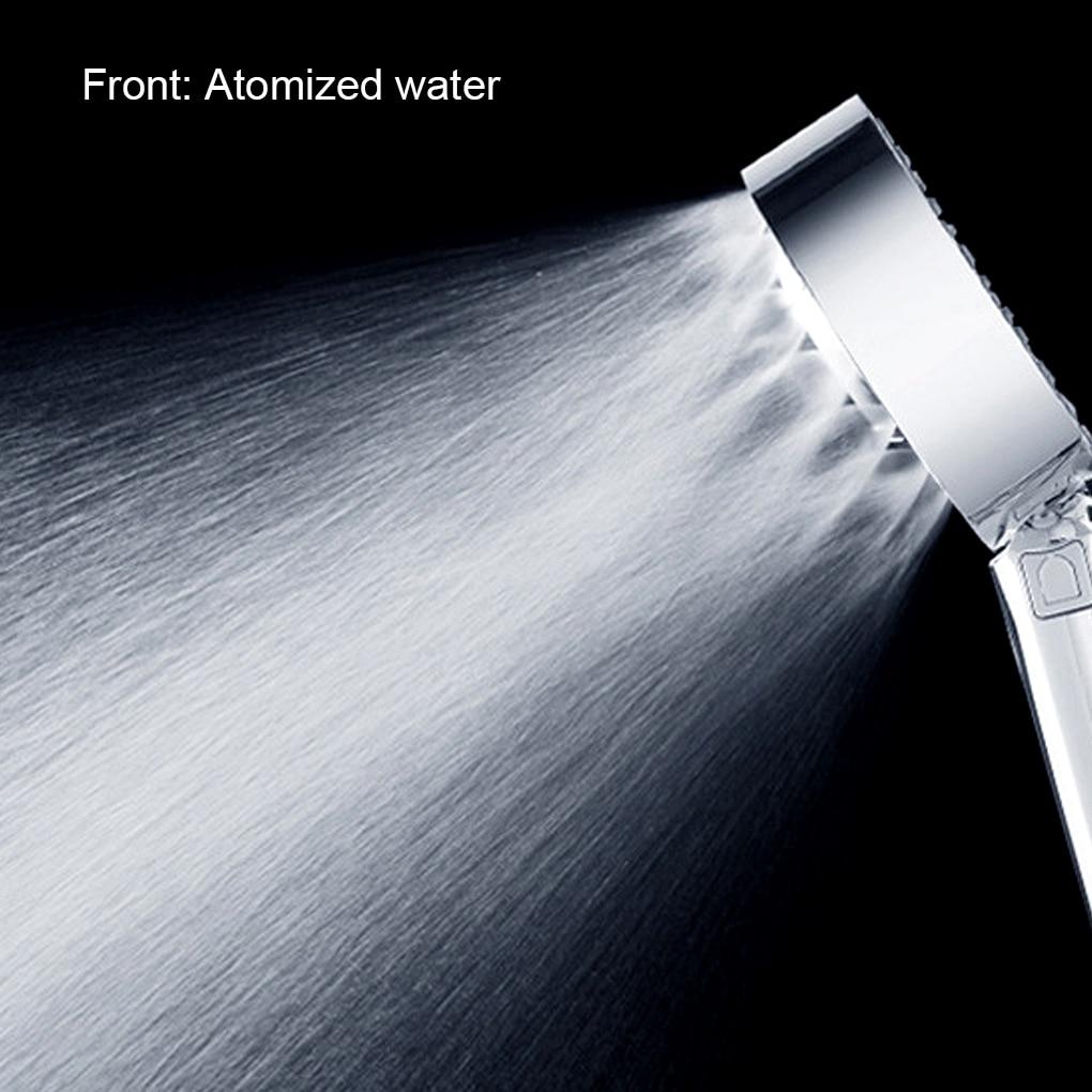 Çift taraflı yağmur biçimli duş kulaklık ABS su tasarrufu duş başlığı seti banyo sprey el meme boru tabanı montaj banyo aksesuarları