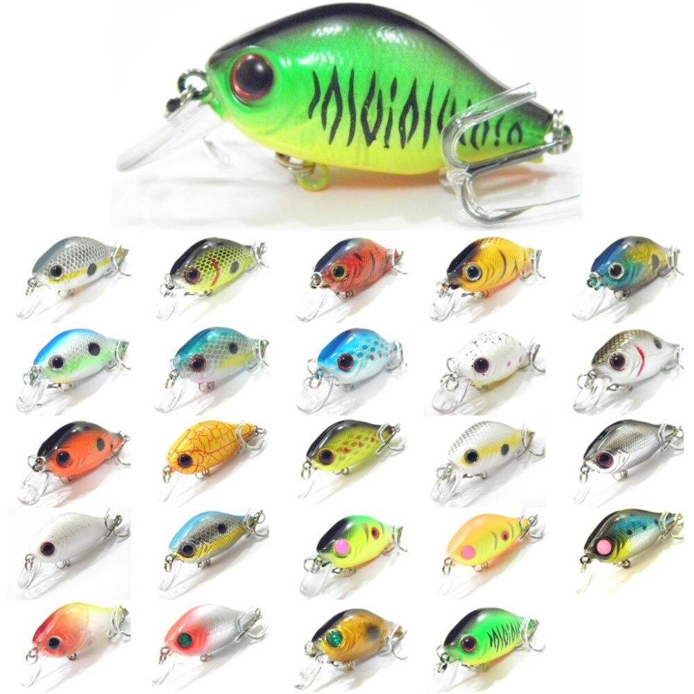 WLure 5.6cm 7g Tiny Crankbait Variant Colors 0.5 Meter Depth 2 #8 Treble Hooks Carp Fishing Wide Wobble Fishing Lure C564