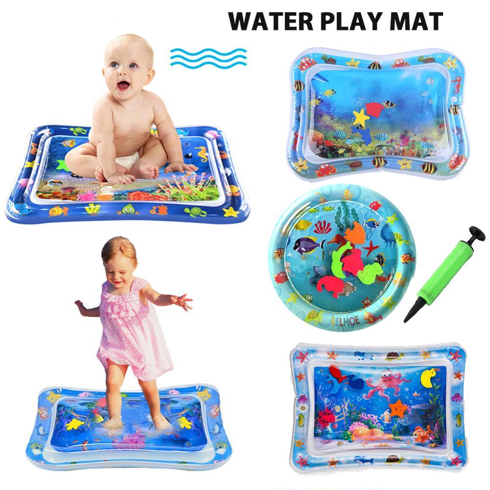 Bébé jouer jeu tapis été gonflable tapis d'eau pour bébés coussin de sécurité tapis de glace activité amusante tapis de jeu éducation précoce enfants jouets