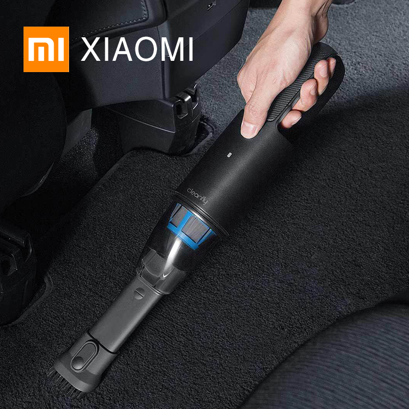 Original XIAOMI MIJIA Cleanfly FVQ Portable Car Hand Helded Vaccum Cleaner Wireless Mini Dust Catcher Collector 5000Pa Suction