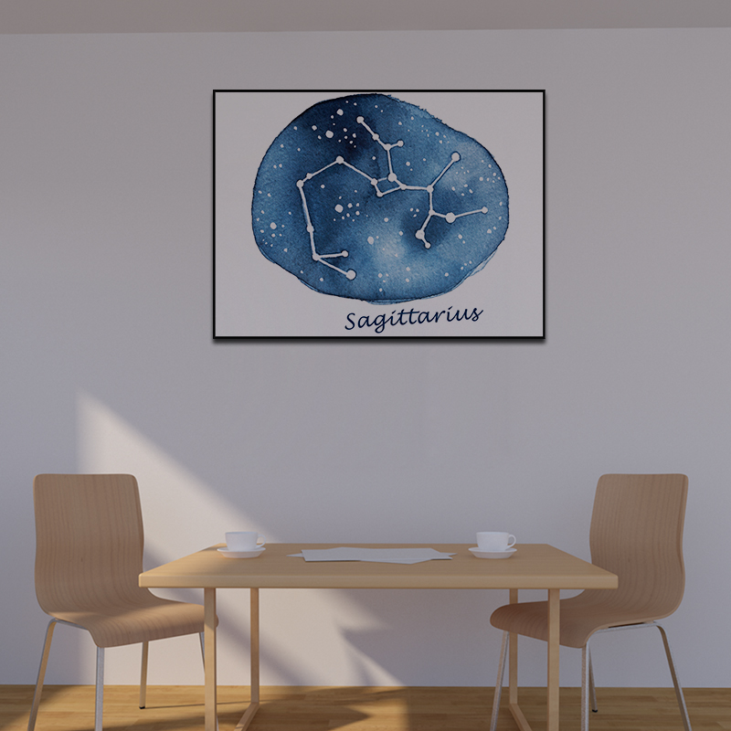 Wall Art Canvas Poster Painting Print Picture Living Bedding Room Decor Painting Original Nightsky Capricorn Libra Constellation(China)